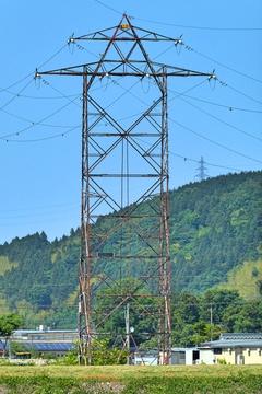 鶴来第1線15番。石川を代表するレガシー鉄塔。赤い風合いがたまらない