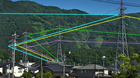 水:鶴来第2線/黄:鶴来第1線/緑:能美線/ピンク:手取線