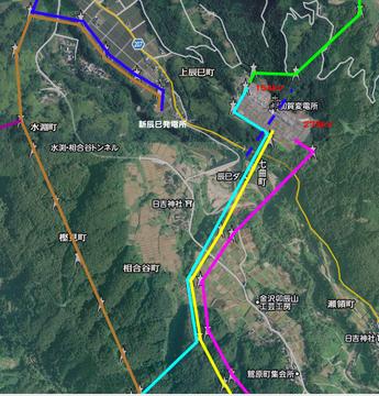 加賀変電所周辺接続図(クリックで拡大)