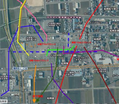 松岡変電所接続図