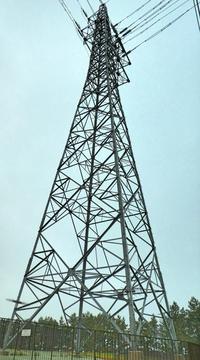 林の向こうの鉄塔