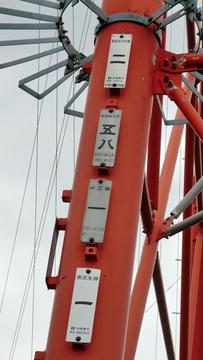 8回線鉄塔の銘板(クリックで拡大)