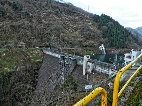 内川ダム到着、下りはここまで