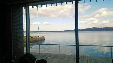 カフェスペースからの眺め ①
