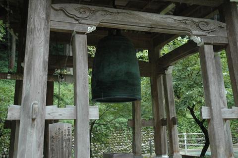 永平寺の寂光苑(じゃっこうえん)にある除夜の鐘
