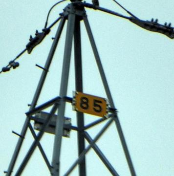 新小松線85番番号札