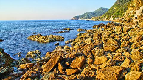 曽々木海岸の岩景