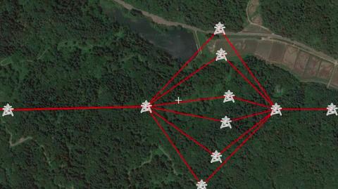 開発中画面 甲乙鉄塔対応最大10回線